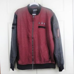 Raw Yarn Ind.Burgundy/Black Water Resistant Jacket